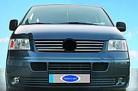 Накладки на решетку Фольцваген Т5 Транспортер 2003+ (8шт)