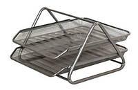 Лоток горизонтальный 2 отделения металл (Серый)2013