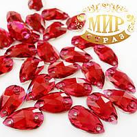 Пришивные стразы(синтетич.стекло).7х12 Форма Капля .Цвет Ruby Цена за 1шт