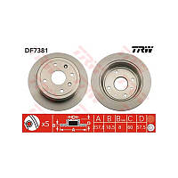 Тормозные диски задние TRW DF7381