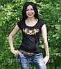 """Жіноча футболка с вишивкою трикотаж """"Рюша"""", фото 2"""