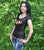 """Жіноча футболка с вишивкою трикотаж """"Рюша"""", фото 4"""