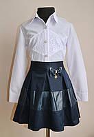 Детская блузка для девочки школьная рубашка белая