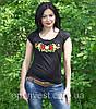 """Жіноча футболка с вишивкою трикотаж """"Рюша"""", фото 5"""