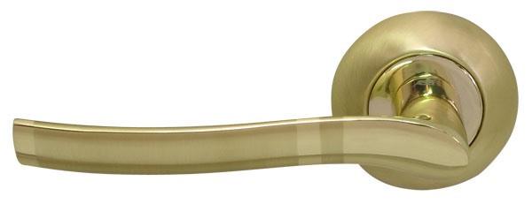 Ручки на розетке RDA Rio полированная латунь/матовая латунь