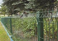 Огородження ЕКО КОЛОР (оц+полімер RAL6005) 1,25/2,5м  Ø3,0/4,0мм 200х50мм