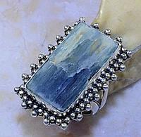 """Кольцо  с  кристаллом кианита """"Плато"""", размер 18 от студии  LadyStyle.Biz"""