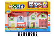 Дом игрушечный для куклы  8133-1, кукольный домик коробка р.39*7*28,5 см