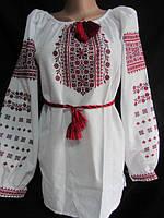 """Вышиванка женская """"Иванка-2"""" с красной вышивкой"""