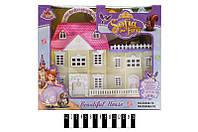 Дом игрушечный для куклы  06008-1S, кукольный домик Sofia
