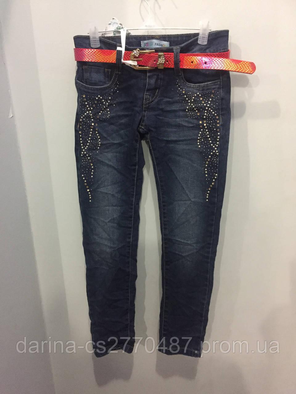 Подростковые джинсовые брюки на девочку 134,152,158,164 см