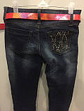 Подростковые джинсовые брюки на девочку 134,152,158,164 см, фото 5