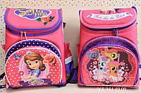 Школьный каркасный рюкзак для девочки розового цвета эргономика ортопедический 20 л 3 отделения 25х25x37см