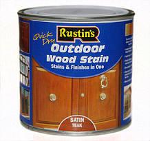 Кольоровий акриловий лак на водній основі Q/D Outdoor Wood Stain для зовнішніх робіт Satin (півматовий), 500 мл, Ebony (чорне дерево)