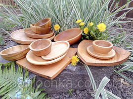 Блюда, тарелки, пиалы деревянные