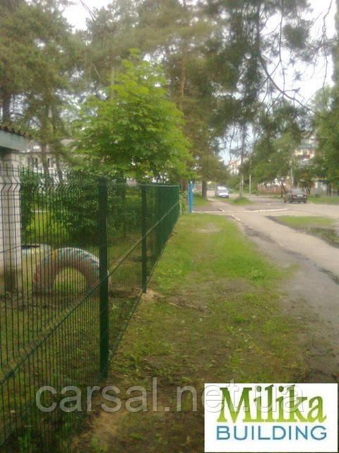 Забор из сварной сетки  Оригинал 4*4 3*2.4