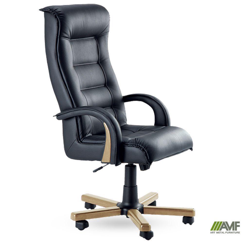 Кресло Роял Люкс бук Кожа Люкс двухсторонняя Белая