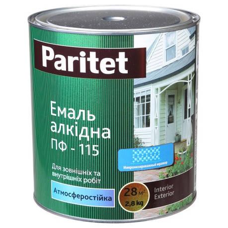 Эмаль ПФ-115 белая 2,8 кг Paritet, фото 2
