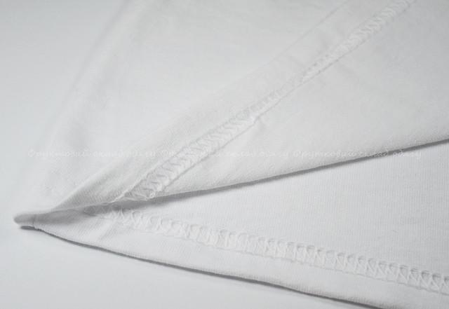 Белая детская классическая футболка для девочек