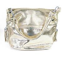 Стильная золотая сумка женская