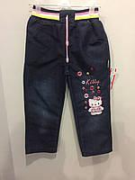 Детские джинсовые брюки для девочки
