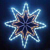 Новорічний світлодіодний МОТИВ ЗІРКА 50х60 см