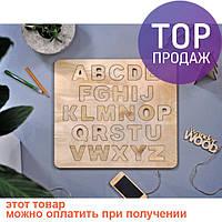 Алфавит деревянный Английский / игрушка для детей