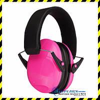 Противошумные наушники для детей KID Pink.