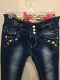 Красивые детские джинсы на девочку 116,122,128 см, фото 2