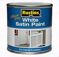 Быстросохнущая полуматовая белая краска Q/D White Satin Paint 1 л