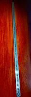 Линейка металлическая двухсторонняя тонкая 1 метр (в чехле)