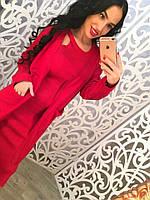 Распродажа летней коллекции Комплект кардиган+платье (красное и розовое)