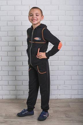 Спортивный костюм для мальчика черный, фото 2