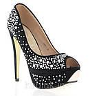 Мега стильные черные туфли на шпильке!