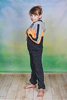 Спортивный костюм детский с капюшоном оранж