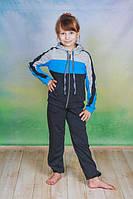 Спортивный костюм детский с капюшоном голубой