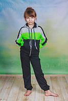 Спортивный костюм детский с капюшоном салат
