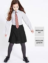 Школьная юбка черная на девочку 6-7-8-9-10 лет Permanent pleat technology Marks&Spencer (Aнглия)