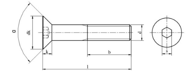 Конструкция винта DIN 7991