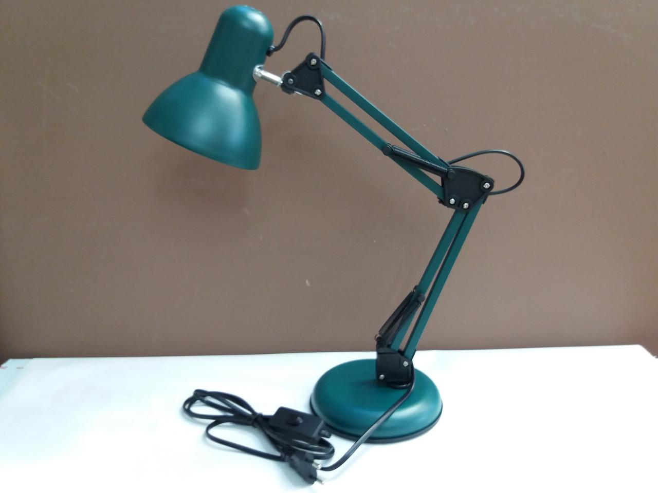 Лампа настольная ученическая многофункциональная зелёная