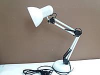 Лампа настольная ученическая многофункциональная белая, фото 1