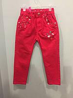 Детские коттоновые брюки для девочки 104 см, фото 1