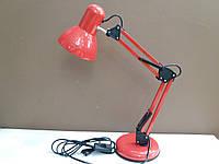Лампа настольная ученическая многофункциональная красная, фото 1