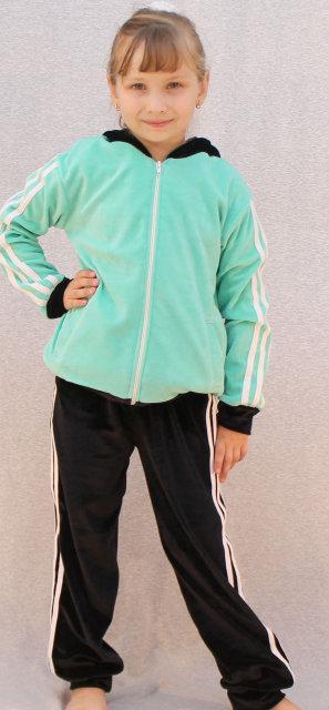 Спортивный костюм велюровый мята