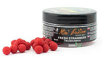 Бойлы Traper Mini Boilies Method Feeder Ø9мм Strawberry (Клубника)