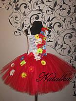 """Карнавальний костюм, юбка-платье из фатина  """"УКРАИНОЧКА"""", фото 3"""