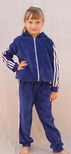 Спортивный костюм велюровый синий