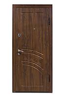 Входная дверь дуб темный с покрытием Vinorit