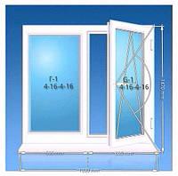 Окно ПВХ REHAU Euro 70 1420*1330 двухкамерный стеклопакет