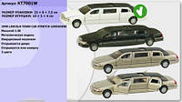 Инерционная машинка лимузин kinsmart kt7001w lincoln town car stretch металл